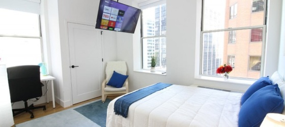 New York Housing Furnished Downtown Room Highrise Gym Doorman Rooftop Luxurious for New York Students in New York, NY